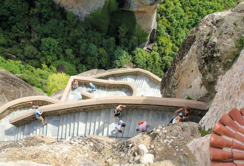Monastero Meteora - Grecia di Varlaam fotografie stock