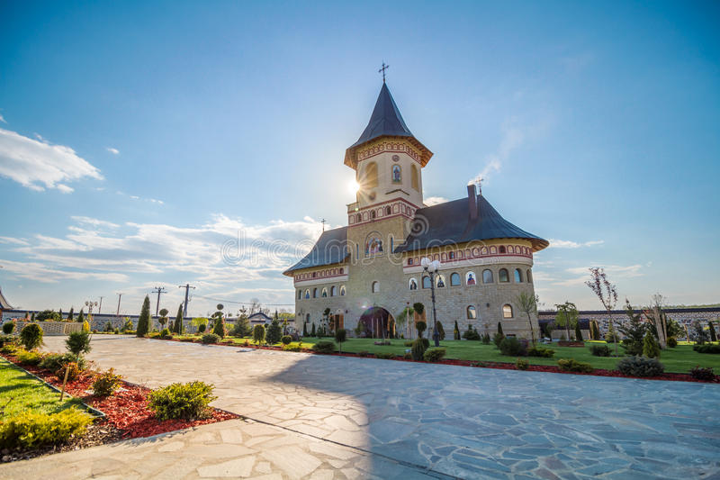 Monastero Moldavia Romania immagine stock
