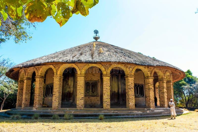 Monastero nel lago Tana fotografia stock libera da diritti