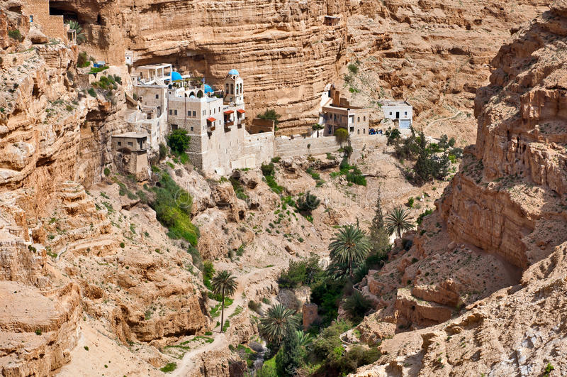 Monastero di St George in Palestina. fotografia stock