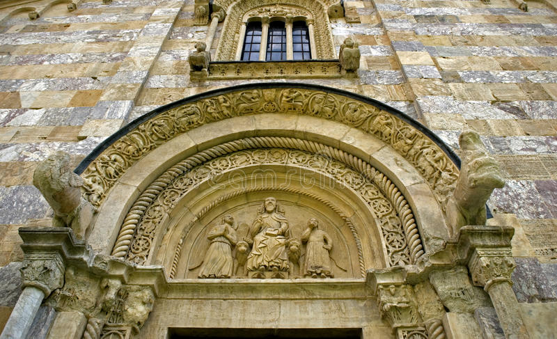 Monastero ortodosso serbo di Visoki, Decani, il Kosovo immagine stock