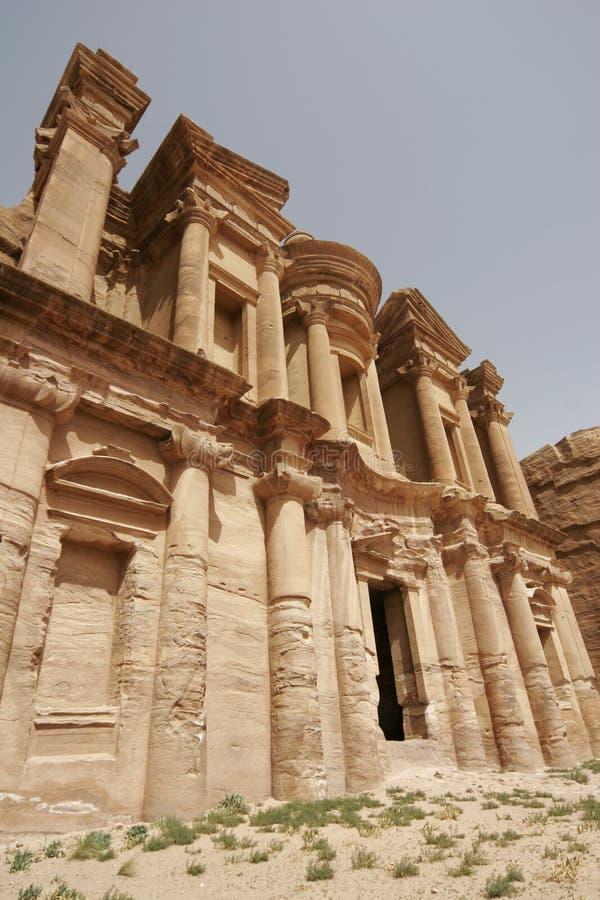 Monastero, PETRA, Giordano, Medio Oriente fotografia stock