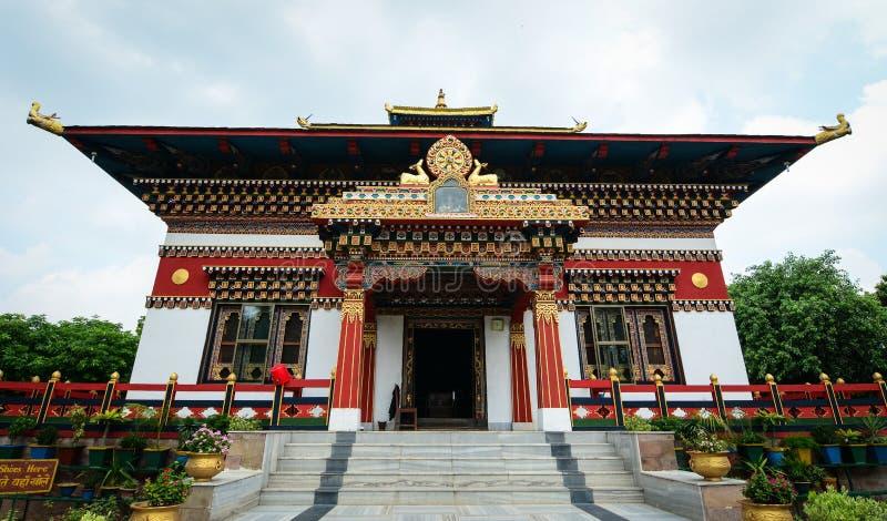 Monastero reale del Bhutanese in Bodhgaya, India immagini stock