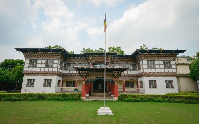 Monastero reale del Bhutanese in Bodhgaya, India immagine stock