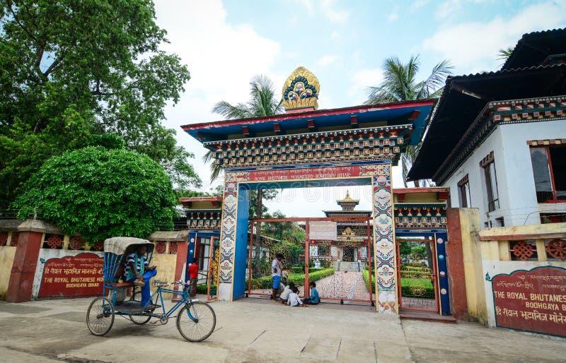 Monastero reale del Bhutanese in Bodhgaya, India fotografie stock