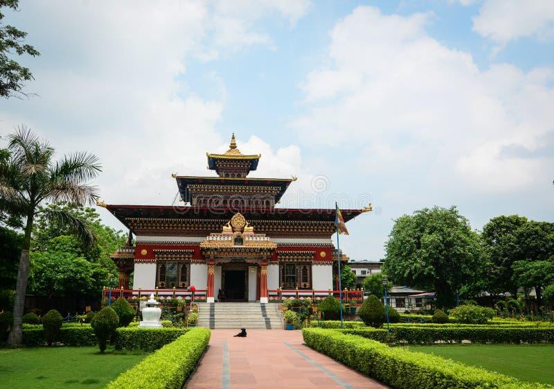 Monastero reale del Bhutanese in Bodhgaya, India immagine stock libera da diritti
