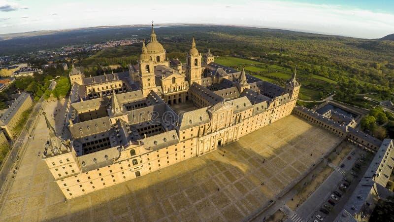 Monastero reale di San Lorenzo de El Escorial immagine stock libera da diritti