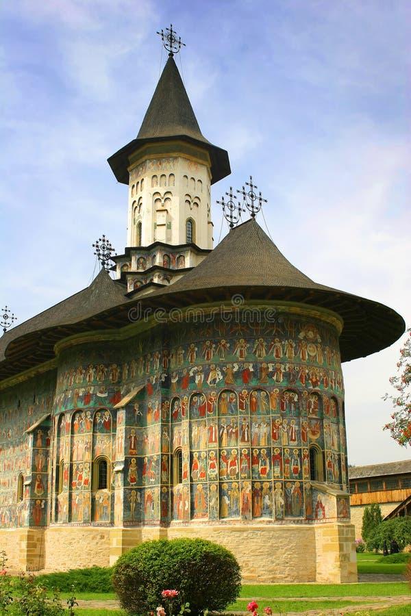 Monastero rumeno immagini stock