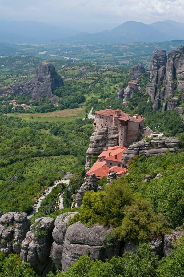 Monastero santo di Rousanou immagine stock libera da diritti