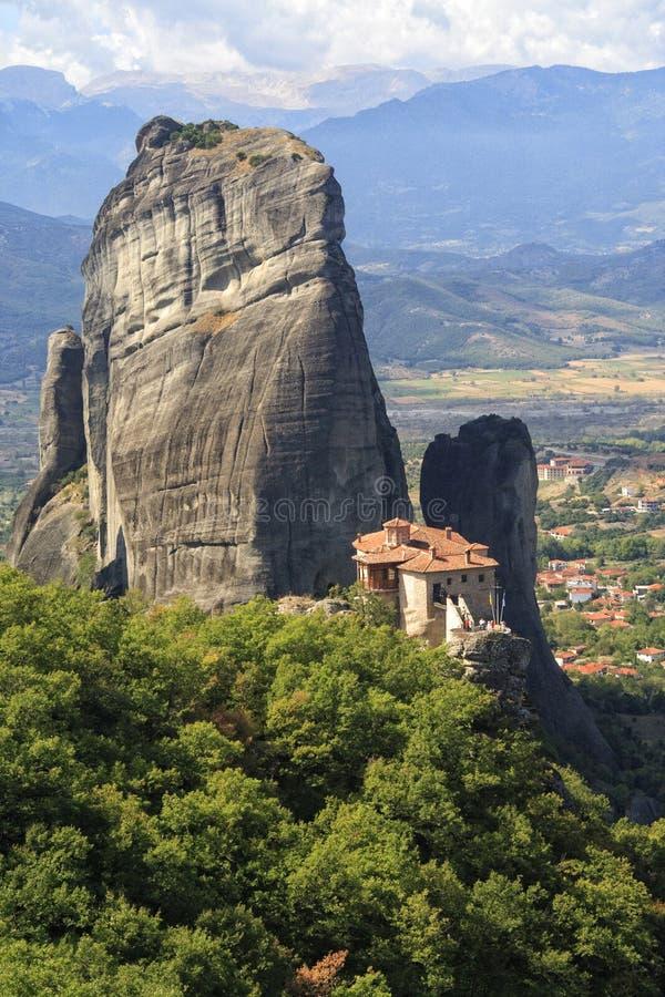 Monastero santo di Rousanou fotografia stock libera da diritti