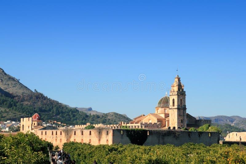 Monastero Spagna Della Santa Maria De La Valldigna Simat Fotografia Stock Libera da Diritti