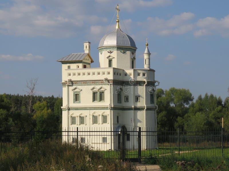Monastero storico della chiesa ortodossa russa in Istra immagine stock