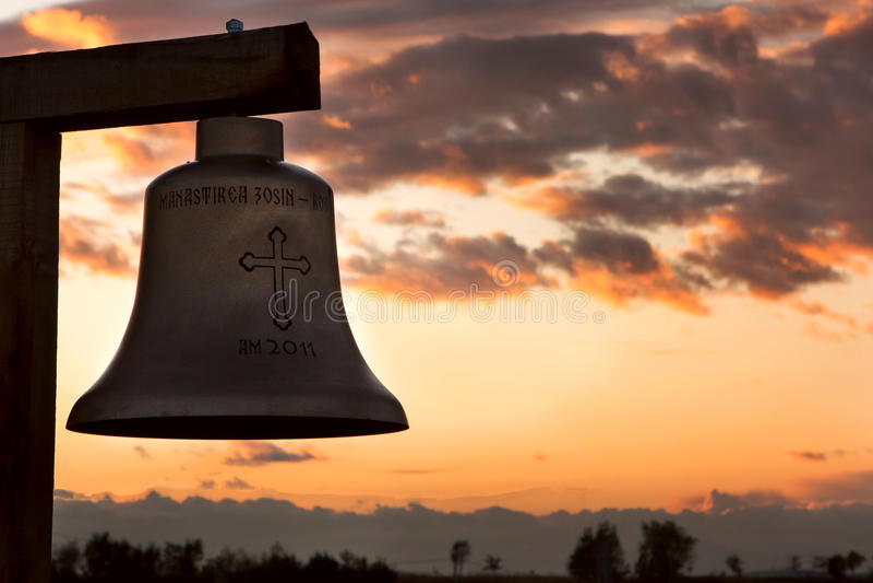 Monastero, zosin, Romania - La campana fotografia stock