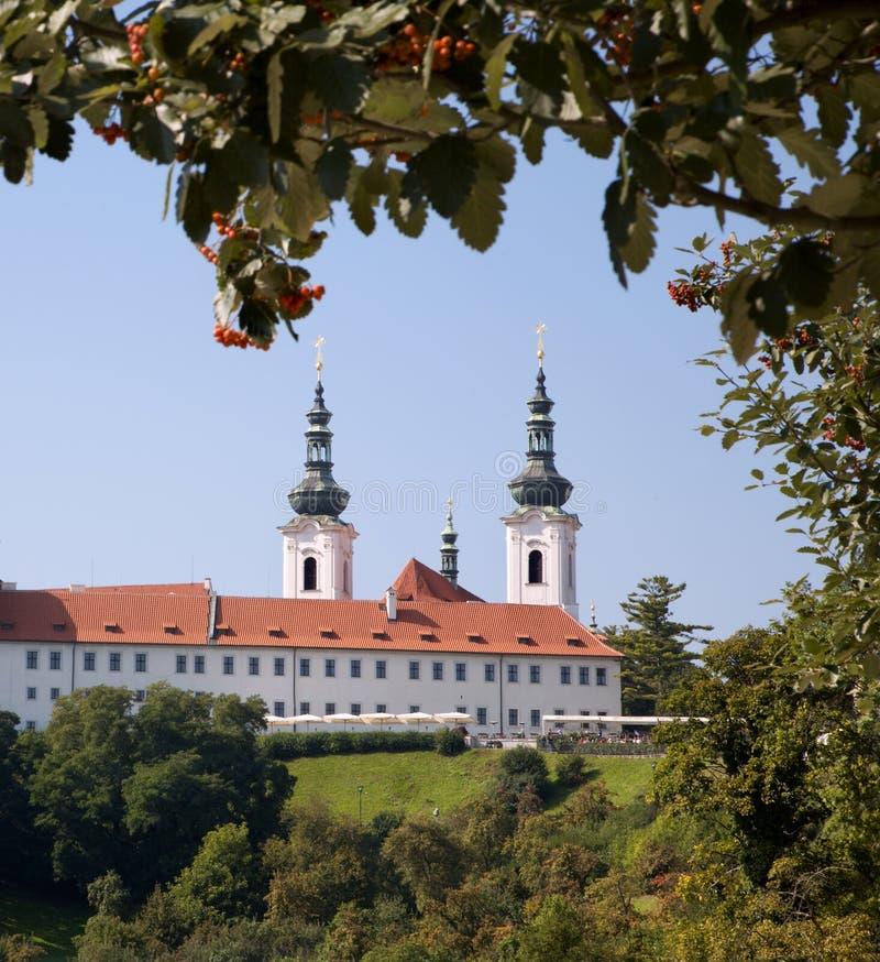 monasteru Prague strahov fotografia stock