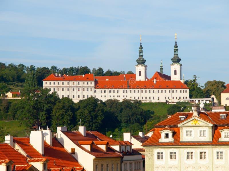 monasteru Prague strahov Widok od Praga kasztelu w Praga, republika czech zdjęcie royalty free