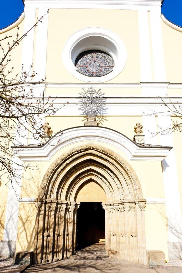 monastery& x27;s教会,警察nad Metuji,捷克 库存图片