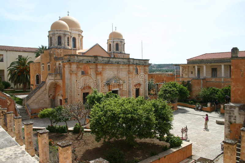 Monastery Agia Triada, Crete royalty free stock images