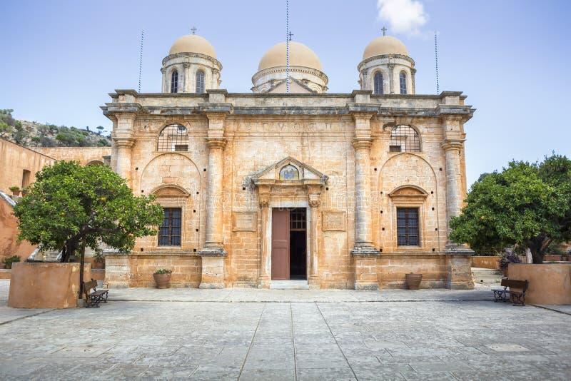 Monastery of Agia Triada of Tzagarolon, Crete, Greece royalty free stock images