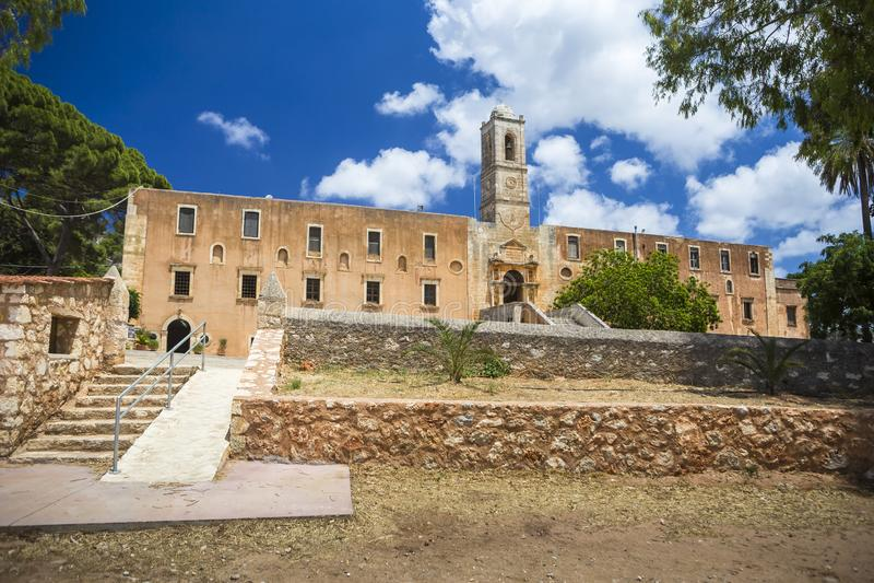 Monastery of Agia Triada of Tzagarolon, Crete, Greece stock photo