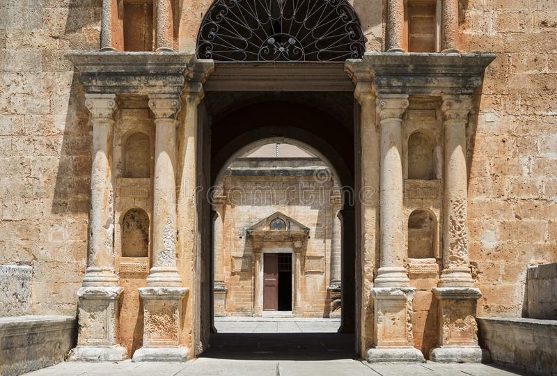 Monastery of Agia Triada of Tzagarolon, Crete, Greece royalty free stock photos