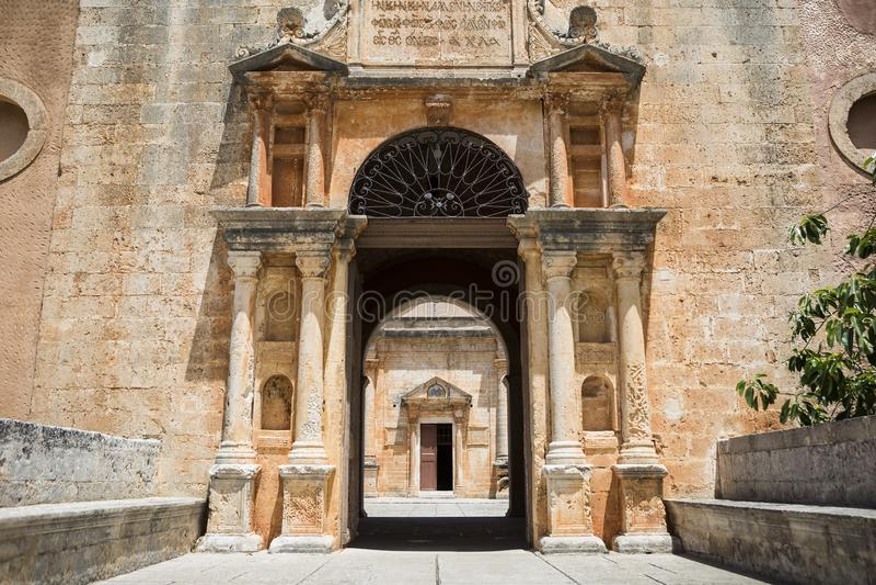 Monastery of Agia Triada of Tzagarolon, Crete, Greece royalty free stock photography