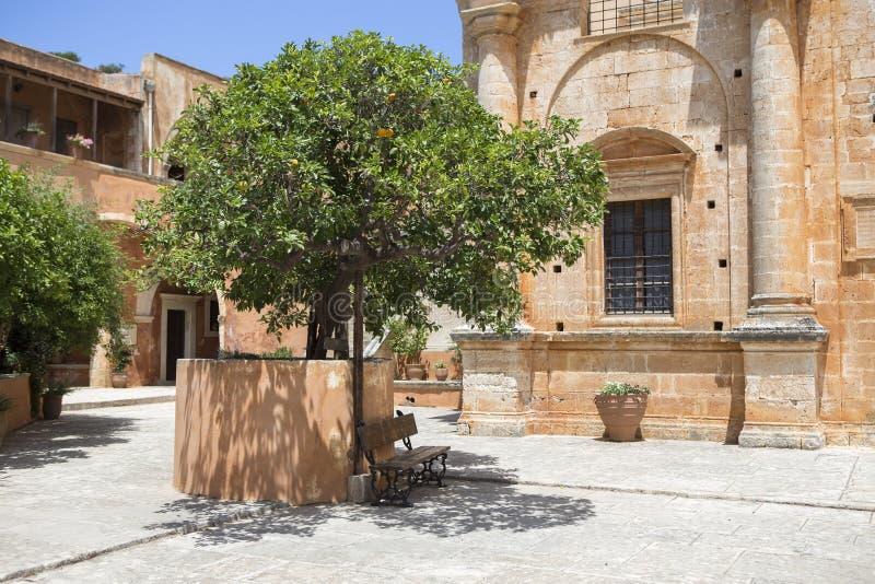 Monastery of Agia Triada of Tzagarolon, Crete, Greece stock photos