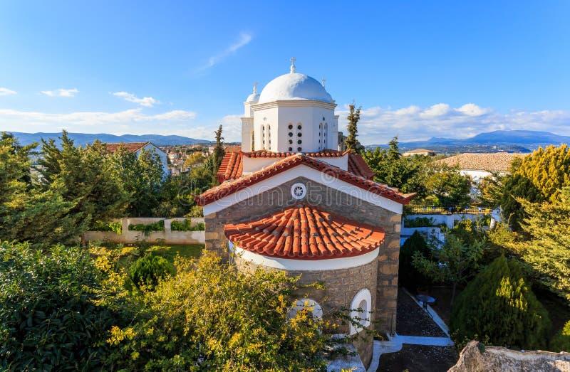 Monastery of Agios Ioannis inside Koroni fortress, 2017 stock image