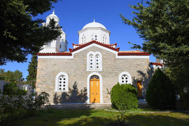 Monastery of Agios Ioannis inside Koroni fortress stock images
