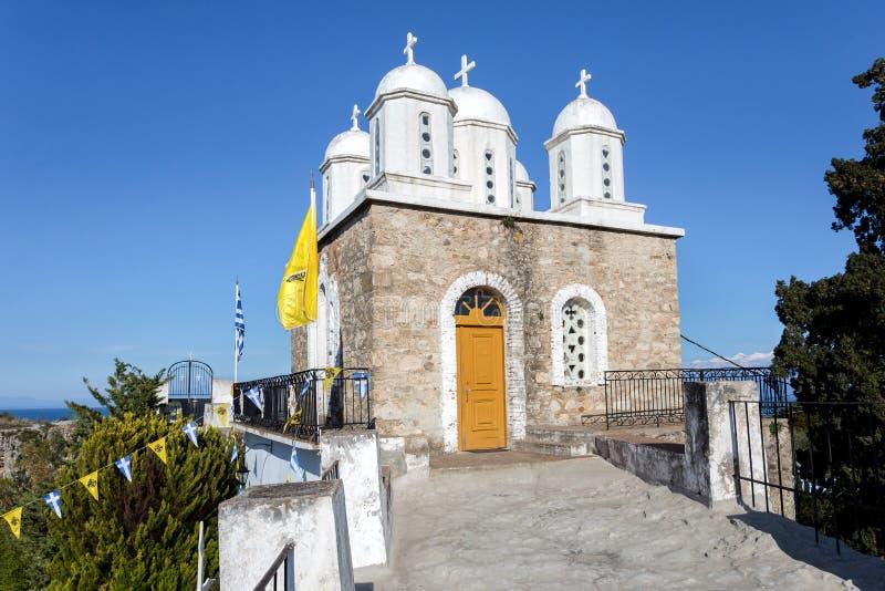 Monastery of Agios Ioannis inside Koroni fortress royalty free stock photography
