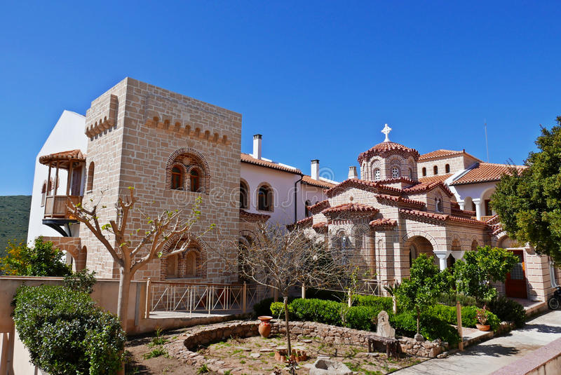 Monastery of Agios Nektarios royalty free stock images