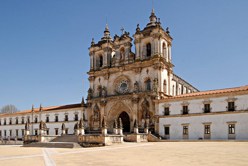 The Monastery of Alcobaca, Portugal. royalty free stock photography