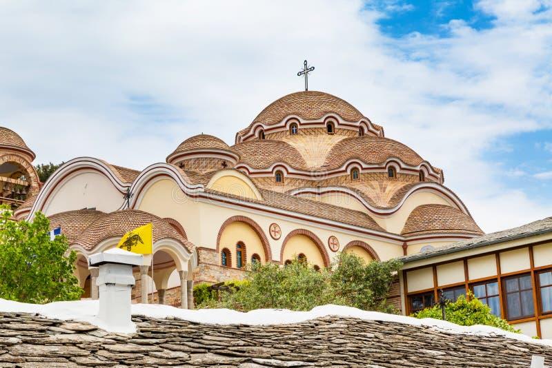 Monastery of Archangel Michael, Thassos island, Greece. View of Monastery of Archangel Michael, Thassos island, Greece stock image