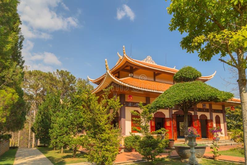 Monastery architecture Vietnam. royalty free stock photo