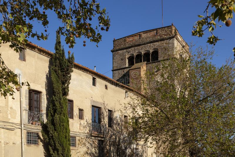 Monastery, Badalona, Spain stock photography