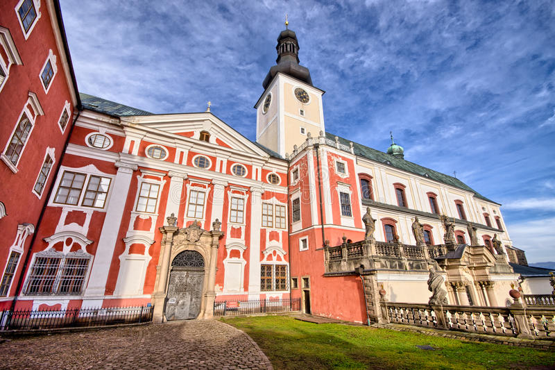 Monastery in Broumov, Czech Republic royalty free stock photography