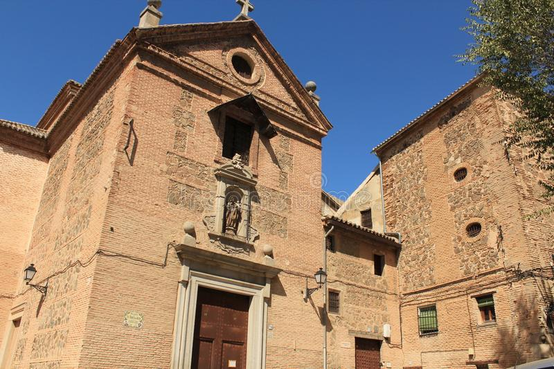 Monastery of the Carmelites in Toledo, Spain stock photo