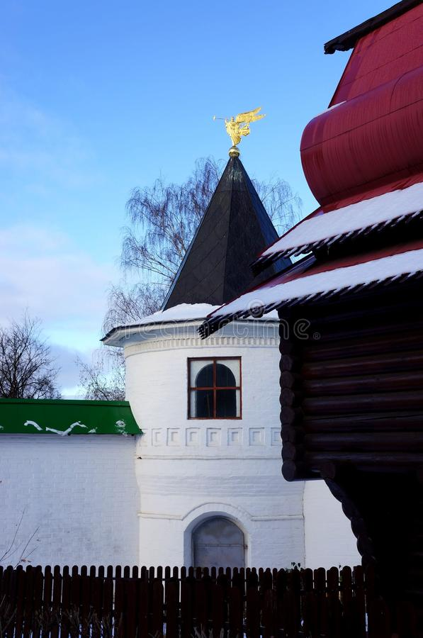 Monastery Cathedral of Sts. Boris and Gleb in Ditrov stock photos