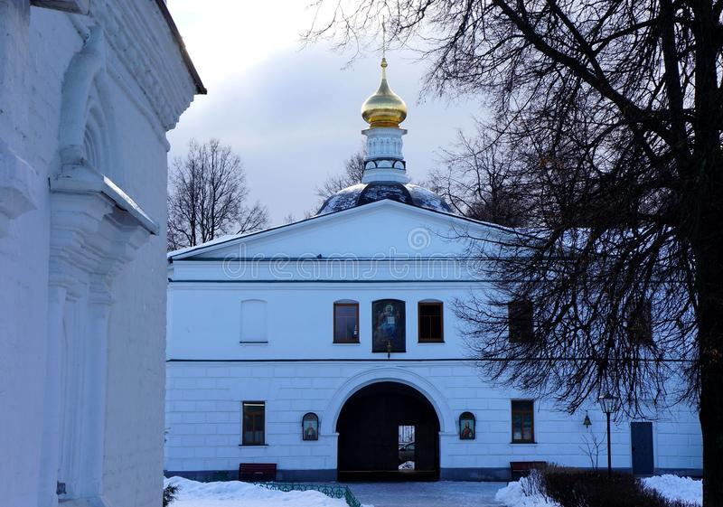 Monastery Cathedral of Sts. Boris and Gleb in Dmitrov stock image