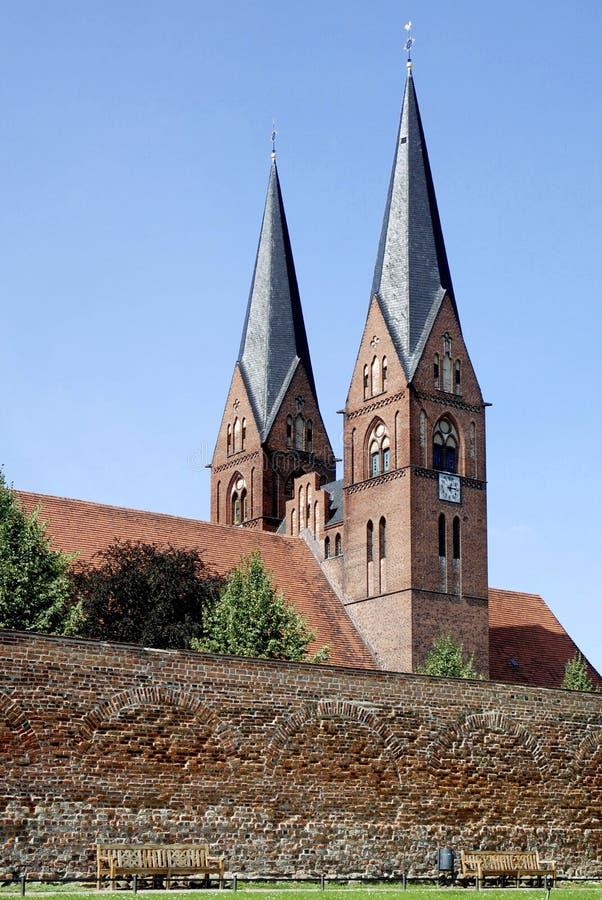 Monastery church of Neuruppin in Germany. Monastery church Saint Trinitatis in the city of Neuruppin in Brandenburg royalty free stock photography