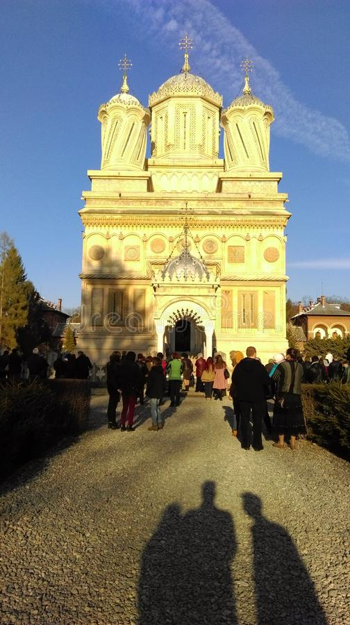 Monastery Curtea de Arges fotografía de archivo