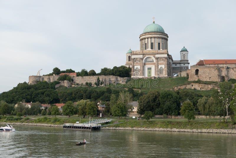 The monastery of esztergom stock image