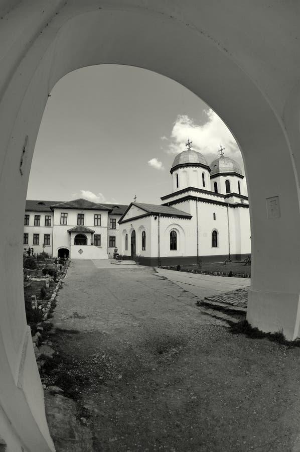Orthodox church. Comana Monastery - Giurgiu, landmark attraction in Romania stock photo