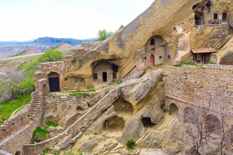 Monastery in Georgia David Gareji. David Gareja or Gardji cave monastery complex in Georgia, Kakheti region stock photos