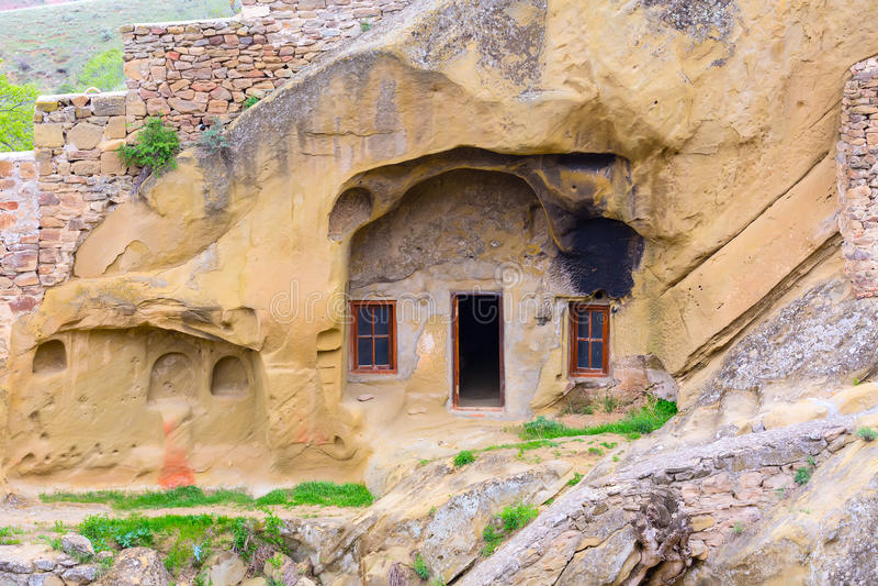 Monastery in Georgia David Gareji. David Gareja or Gardji cave monastery complex in Georgia, Kakheti region stock images