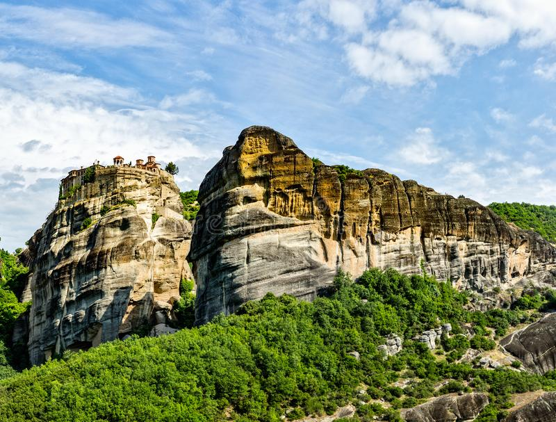 The Monastery of Great Meteoron. royalty free stock photography