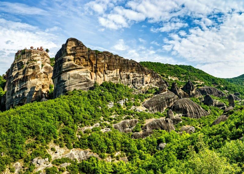 The Monastery of Great Meteoron stock image