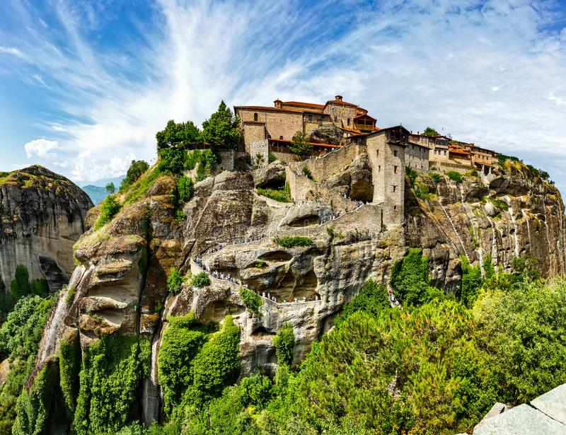 The Monastery of Great Meteoron. stock images