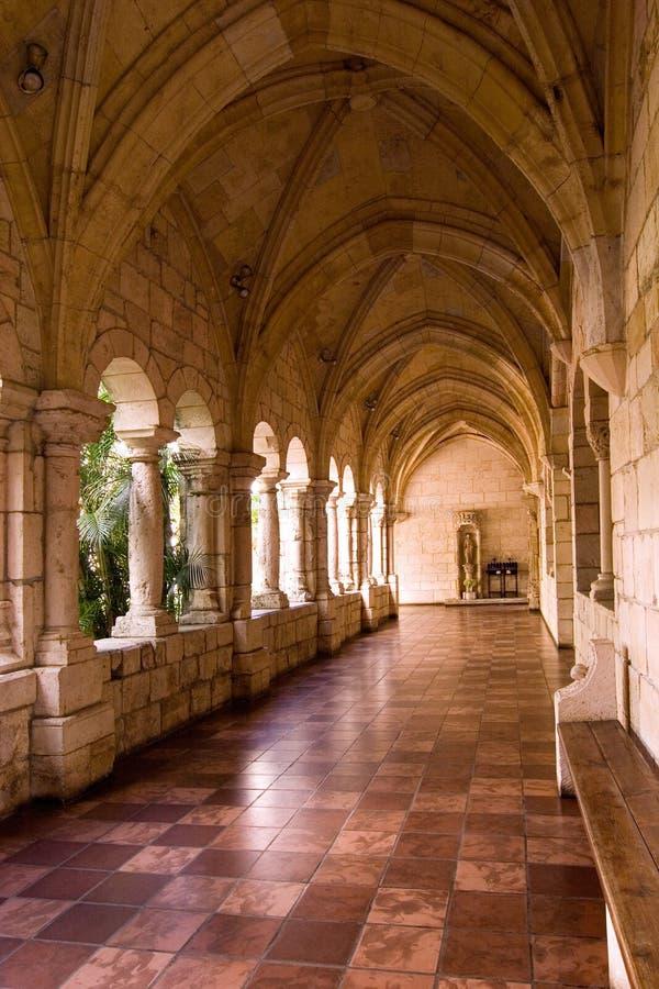 Monastery Hallway 5 stock photo