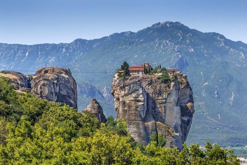 Monastery of the Holy Trinity, Meteora, Greece stock image