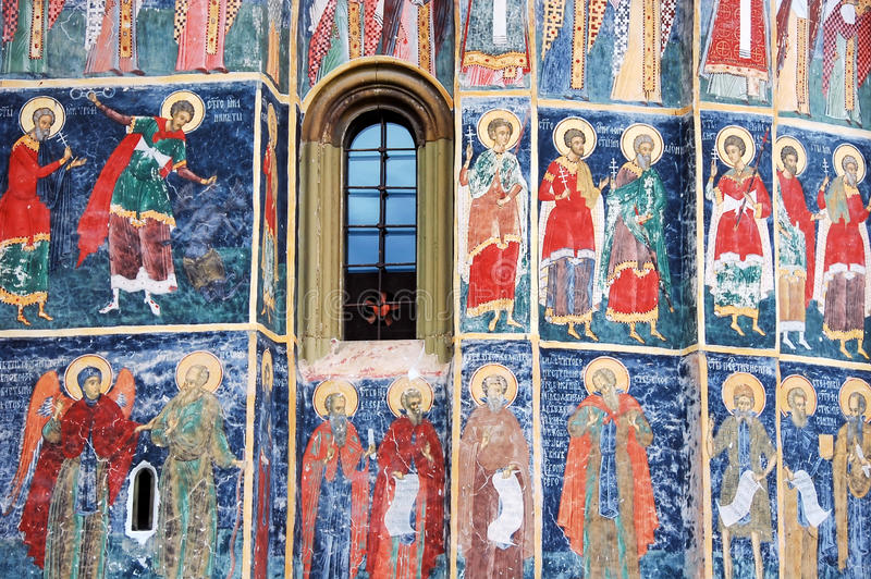 Download The Monastery Humor, Exterior Paint Stock Image - Image of color, moldova: 38804523